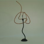 "<b style=""font-size:15px;"">""Copper 101""</b><br/> Copper Tubing<br/> Bronze Base<br/> 40"" x 18.5""<br/> 2007"