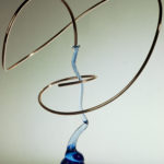 "<b style=""font-size:15px;"">""Copper On Blue Glass 2""</b><br/> Copper Tubing<br/> Glass<br/> 28.5"" x 22.5""<br/> 2006"